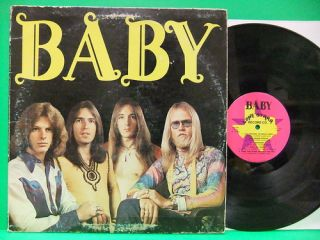 Baby Self Titled 1974 LP Album Texas Southern Rock Debut Record Lone
