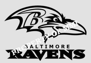 Baltimore Ravens Style 3 Vinyl Decal Window Car Wall Truck Man Cave