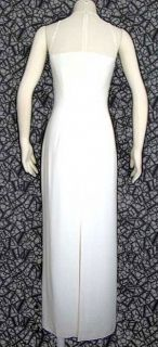 Cassandra Stone WHITE BEADED ILLUSION BANDEAU TOP PARTY~PROM~ PAGEANT