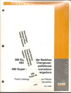 Case 580 Super M Loader Backhoe Parts Manual