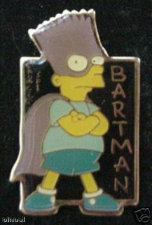 Bartman Pin Bart Simpson Super Hero Batman