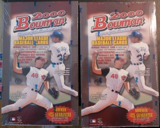 2000 Bowman Baseball Trading Card Box Factory Sealed Lot of 2
