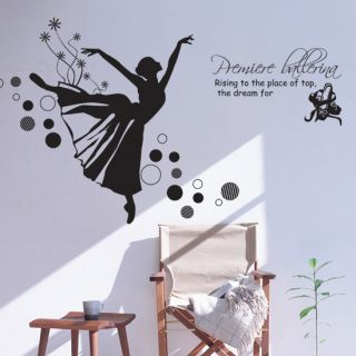 Ballerina Adhesive Removable Wall Decor Accents Graphic Stickers