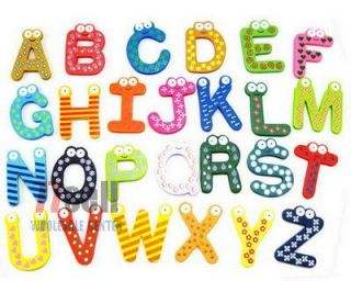 26 Pcs Wooden Magnetic Alphabet Letter Set A Z Toy Gift