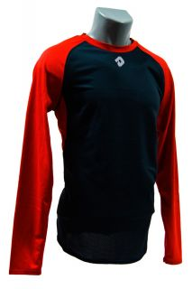 DeMarini Mens Long Sleeve Baseball Softball Shirt Red Adult WTP9702