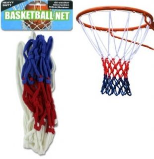 Basketball Net All Weather Indoor Outdoor Heavy Duty Red White and
