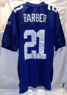 Tiki Barber New York Giants Reebok Authentic Football Jersey Mens Size
