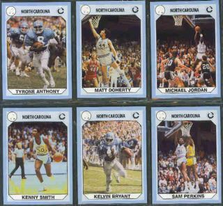 1990 UNC Basketball Trading Cards Jordan 5 Sets 768x5