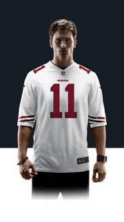 49ers Alex Smith Mens Football Away Game Jersey 479400_107_A_BODY