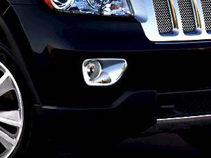 2011 2012 2013 Jeep Grand Cherokee Chrome Fog Light Bezels, Mopar