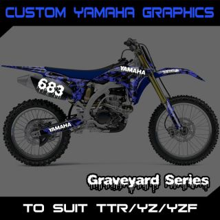 Custom Yamaha Graphics Kit Number Backgrounds   TTR YZ YZF 50 85 125