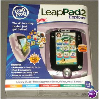 LEAP FROG LEAPPAD 2 EXPLORE NIB (PINK) LEAP PAD 2 LEAPFROG + 5 APPS