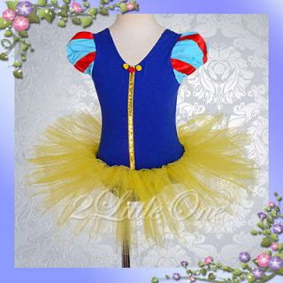 Snow White Girl Ballet Tutu Dance Fancy Costume Pageant Dress Size 4 5