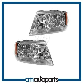99 04 Jeep Grand Cherokee Limited Headlights Headlamps LH Left RH