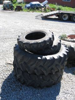 COMPLETE SET OF 4 TITAN FARM TRACTOR TIRES  7X16 & 13.6X24