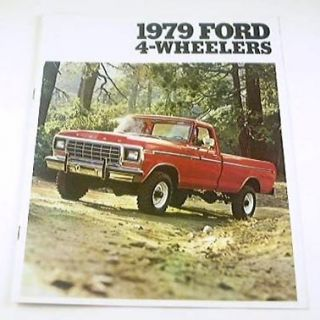 1979 79 ford 4 wheel drive truck brochure bronco f250