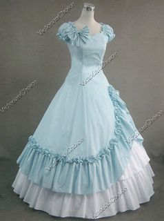 War Southern Belle Cotton Gown Prom Dress Reenactment Clothing 208 XL