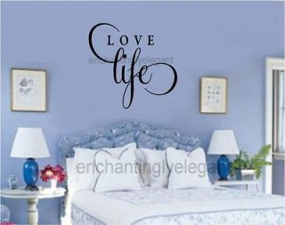 Live Well Laugh Often Love Much Vinyl Decal Wall Sticker Words