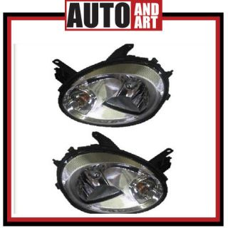 New Pair Set Headlight Headlamp Lens Housing w/Clear Edge SAE and DOT