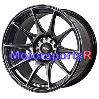 17 XXR 527 Chromium Black Staggered Rims Wheels Concave 5x114.3 08