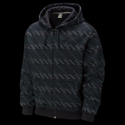 Nike Hazard Stripe Full Zip Mens Hoodie