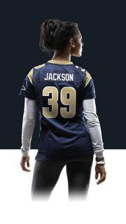 Steven Jackson Womens Football Home Game Jersey 469917_420_B_BODY