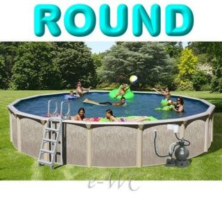 27ft Above Ground Round Swimming Pool Package 27 x 52