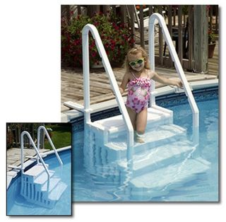 New Blue Wave Above Ground Easy Entry Pool Step Swimming Pool Durable