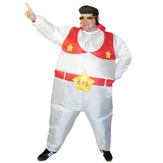 Inflatable Elvis The King Sumo Party Adult Fat Suit Fancy Dress Hen