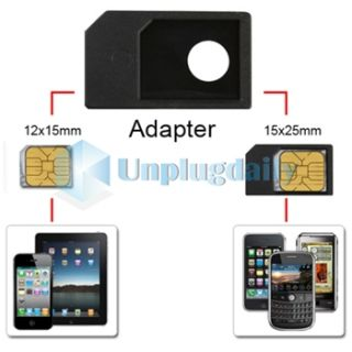 Micro Sim Card Adapter Accessory for Verizon ATT iPhone 4 4G 4S HD