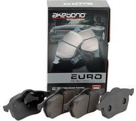 Rear Akebono Ceramic EUR340A Brake Pads Ships Today