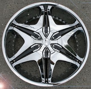 Akuza Big Papi 712 22 Chrome Rims Wheels Santa FE