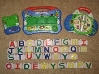 RADIO Word Whammer & Fridge Phonics ALPHABET TOY LOT + Extra Letters