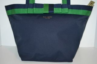 NWT Kate Spade Barrow Street Anabel Tote Shoulder Bag NEW Navy Green