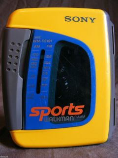 Sony Sports Walkman Am FM Radio Cassette Player Wm FS191