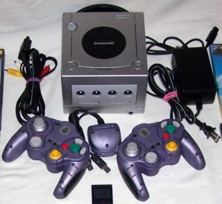 PLATINUM NINTENDO GAMECUBE SYSTEM BUNDLE + 30 GAMES   MARIO and MONKEY