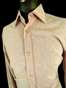 Mens Red Andrea Palombini Casual Dress Shirt Corduroy Italy Button
