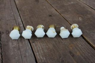 Antique Vintage White Kitchen Cabinet Drawer Pulls Dresser Knobs