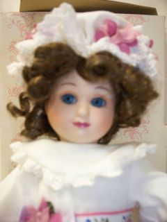 Bisque Porcelain Doll by The Hamilton Collection 1990 Tagged