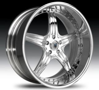 20 asanti AF144 Chrome Wheels Rims 3 Piece