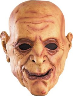 Funny Wrinkly Bald Old Man Scary Halloween Costume Mask