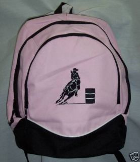 Barrel Racing Racer Backpack Horse Book Bag More Colors