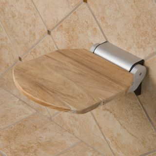 Solid Teak Wood Folding Shower Seat Unfinished Teak