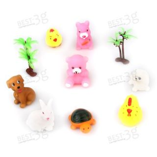 Set 8 Baby Infant Kids Bath Float Squeeze Toy Animals Xmas Gift