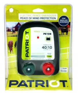 Patriot PE10B Battery Powered Electric Fence Charger Energizer 10MILES
