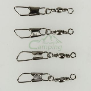 100pcs Barrel Bearing Swivel Solid Rings Fishing Connector 14 A