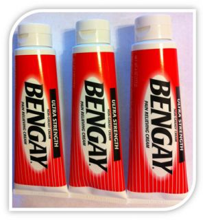 New Bengay Ultra Strength Pain Relieving Non Greasy Cream 3 Tubes x