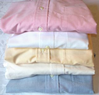 Brooks Brothers Mens Cotton Oxford Shirts Never Have BEEN Worn