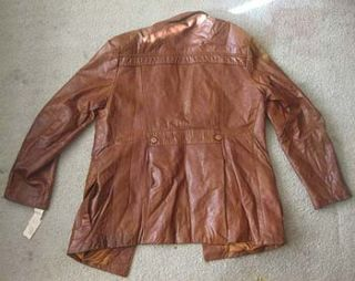True Vtg Bermans The Leather Experts Mens Coat/Jacket Size 44