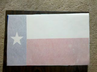 Leather Fire Helmet Underside TEXAS Flag Decal Cairns N5A N6A